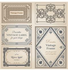 Vintage frames and design elements vector image