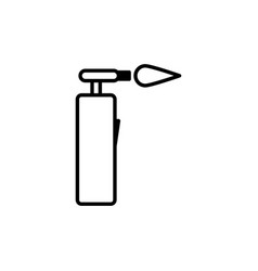 blowtorch icon vector image