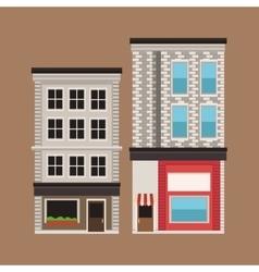 building twon store facade vintage vector image
