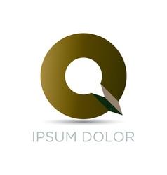 Q letter modern emblem vector image vector image
