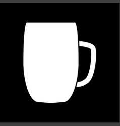 beer mug white color icon vector image vector image