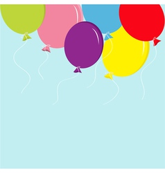Colorful balloon set in the sky Greeting card back vector image vector image