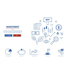 Investment website concept vector image vector image