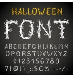 Scary font vector image vector image