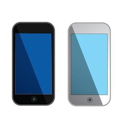 smartphones with blue screens - isolated vector image vector image