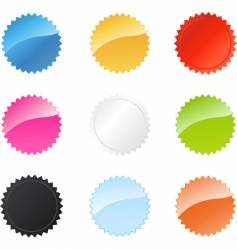star badges vector image vector image