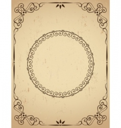 vintage frame on grunge background vector image vector image