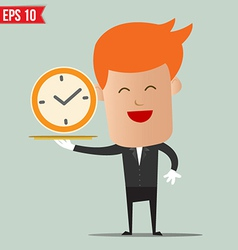 Waiter serving time - - EPS10 vector image