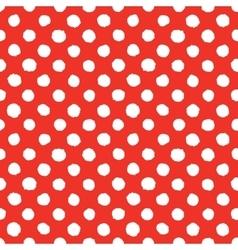Abstract hand drawn polka dots seamless vector image vector image