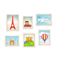 Different post stamps set vector image vector image