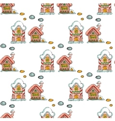 Fairy houses isolated on white background Merry vector image
