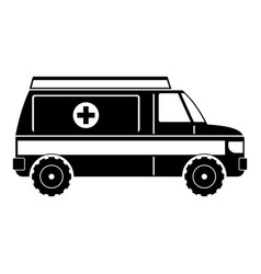 fast ambulance icon simple style vector image vector image