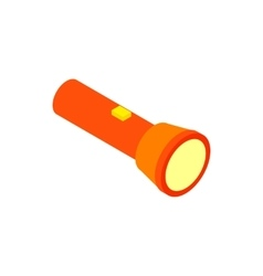Flashlight isometric 3d icon vector image