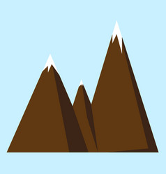 mountain icon or logotype vector image vector image