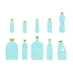 Plastic Different Bottles Set for Liquid vector image