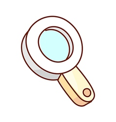 A view of magnifying glass vector