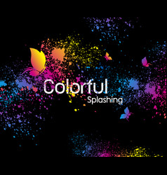 abstract colorful splashing design vector image
