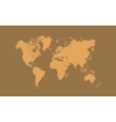 Abstract halftone political world map vector image
