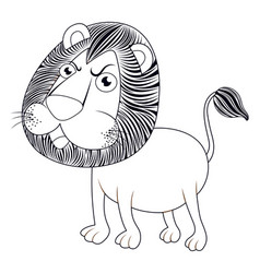 Animal outline for lion vector