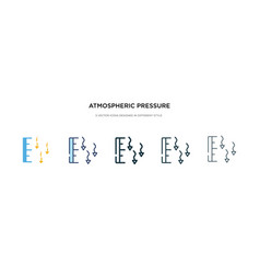 Atmospheric pressure icon in different style two vector
