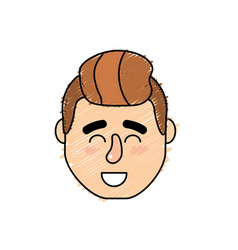 Avatar man head with hairstyle design vector