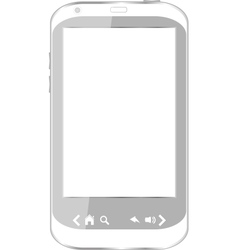 beautiful white smartphone vector image