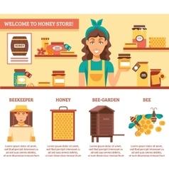Beekeeping Honey Infographics vector