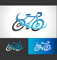 bicycle bike logo icon symbol vector image