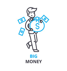 big money concept outline icon linear sign vector image