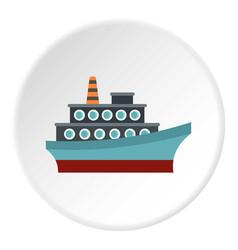 Big ship icon circle vector