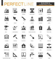 black classic building and construction tools web vector image