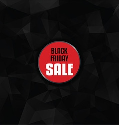 Black Friday sale with low poly design vector image vector image