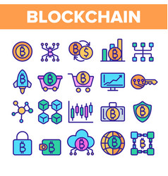blockchain technology cryptocurrency vector image