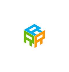 box letter r logo icon design vector image