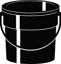 Cartoon bucket vector
