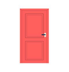 cartoon icon or symbol closed red door flat vector image
