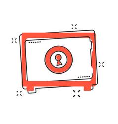 cartoon money safe icon in comic style deposit vector image