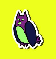 cartoon owl background halloween poster vector image
