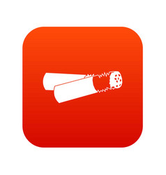 cigarette butt icon digital red vector image