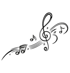 Clef music music notes vector