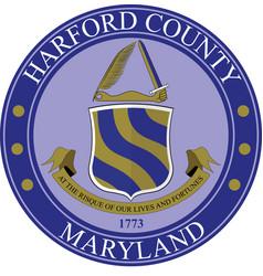 Coat arms harford county maryland usa vector