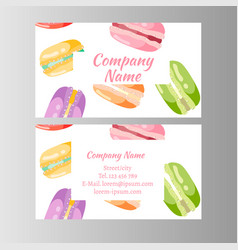 coupon for a bakery shop sweet macaroons vector image