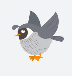 cute quail in cartoon style vector image