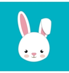 Cute rabbit animal farm isolated icon design vector