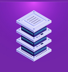 Database server isometric element vector