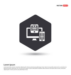 document icon hexa white background icon template vector image