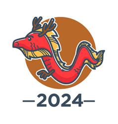 dragon chinese zodiac sign asian horoscope vector image