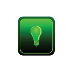 eco bulb sticker green vector image