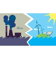 Evolution from industrial pollution to eco energy vector