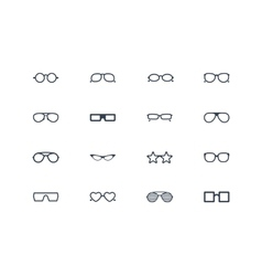 Eye glasses icons vector image